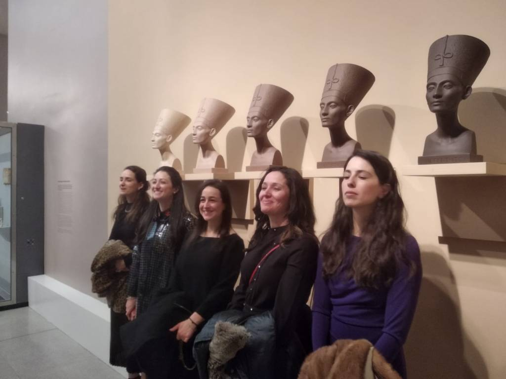 The Ladies and Nefertiti at the Brooklyn Museum